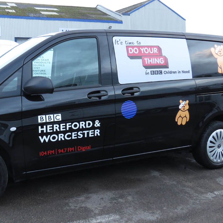 BBC Hereford & Worcester borrow a van for Children in Need Campaign: image